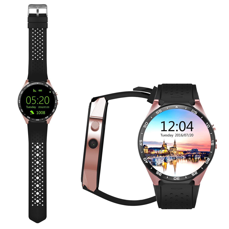 SmartWatch con Bluetooth, 3G, WiFi y GPS de Awow Kingwear (KW88), con procesador Quad Core y pantalla táctil Amoled de 1,39 pulgadas; compatible con ...