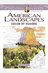Creative Haven American Landscapes Color by Number Coloring Book (Creative Haven Coloring Books) Paperback
