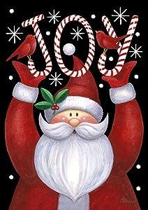 "Toland Home Garden 119385 Santa Joy 12.5 x 18 Inch Decorative, Garden Flag (12.5"" x 18""), Double Sided"