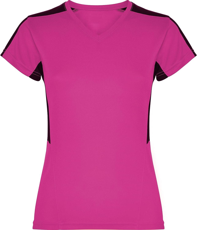GO HEAVY Damen V-Ausschnitt Funktions Sport T-Shirt Kurzarm