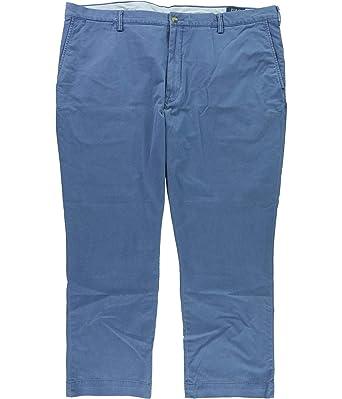 549f7ecf9c993e Polo Ralph Lauren Men's Big & Tall Straight-Fit Stretch Chino Pants-BLU-