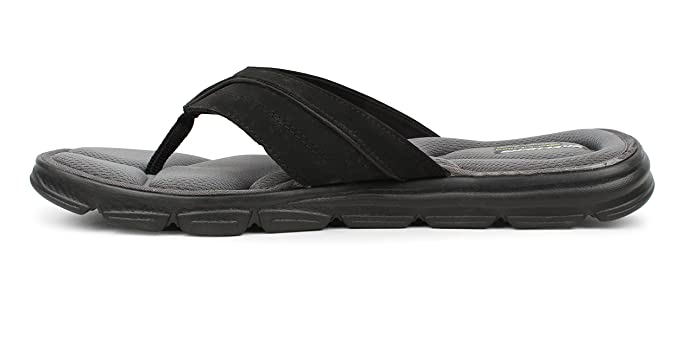 f077622c6f05 Skechers Men s Black Wind SWELL- Sand Diver Textile Sport Slipper  Buy  Online at Low Prices in India - Amazon.in