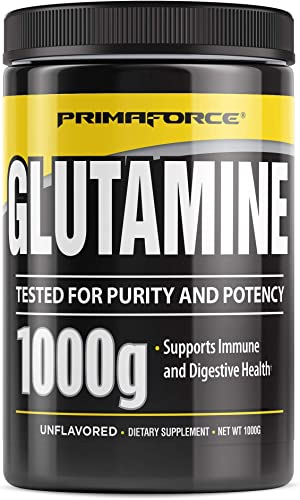 Primaforce Supplement, L-Glutamine Powder- Speed Muscle Recovery, Support Intestinal Health, Enhance Immunity – 1000 Gram