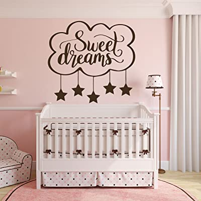 Nursery Vinyl Wall Decor- Sweet Dreams - Sticker Removable Decal for Baby's Room, Bedroom or Play Room