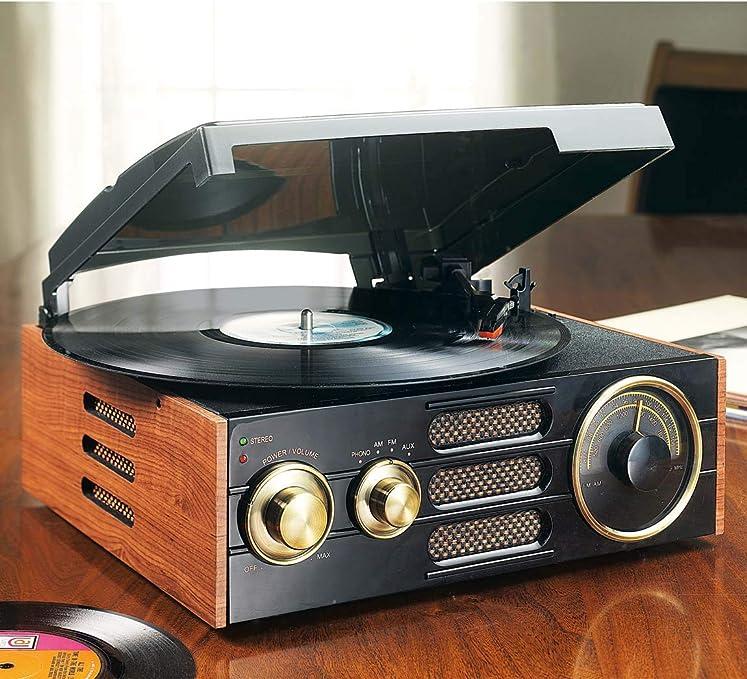 GPO Empire - Tocadiscos talla única negro: Amazon.es: Hogar
