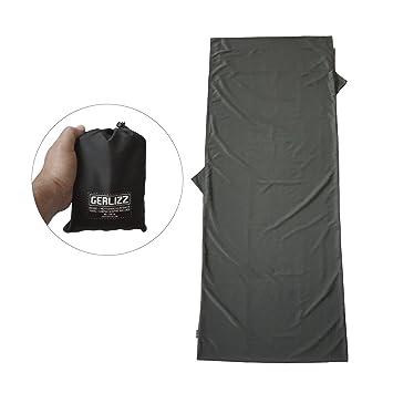 gerlizz cabaña Saco de dormir – Saco de dormir de viaje de microfibra transpirable, ultrafina