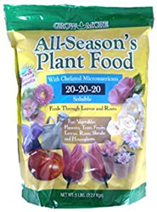 Grow More 7431 All Season's Fertilizer 20-20-20, 5-Pound
