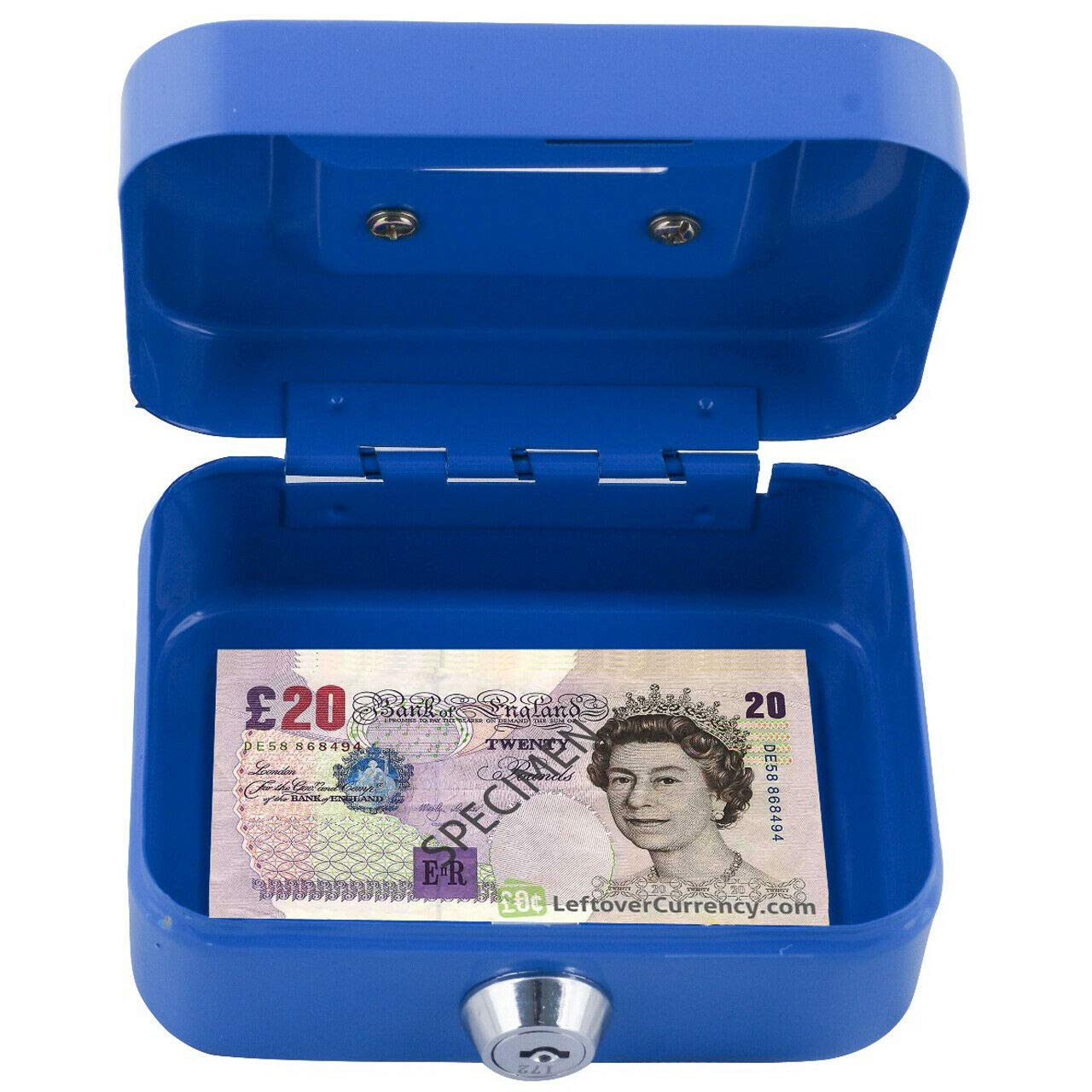 "4.5/"" PETTY MONEY BANK DEPOSIT STEEL BOX CASH SAFE INCLUDE 2 KEYS CARBOOT BOX"