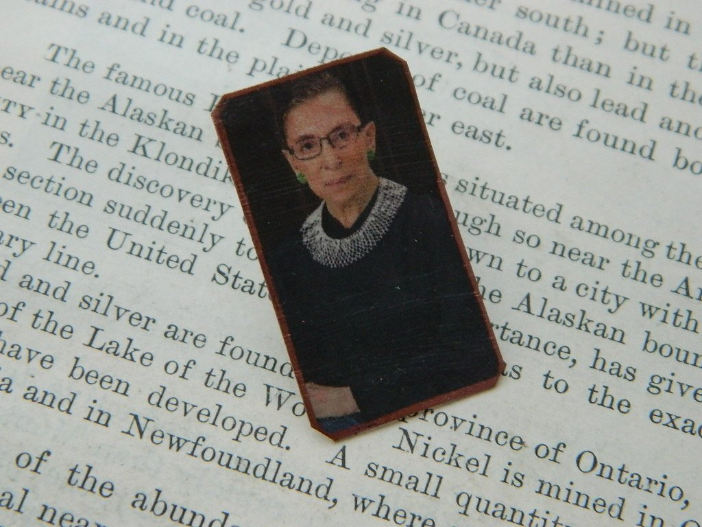 Ruth Bader Ginsburg Feminist lapel pin Womens Rights Feminist brooch