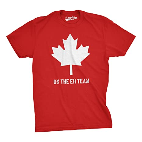 c8cbdb871f Mens On The Eh Team Canada T Shirt Funny Patriotic Novelty Sarcasm Tee For  Guys