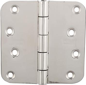 IBalody Wooden Door Folding Hinge 4 Inch Stainless Steel Door Hinges Hinged Fold Bearing Side Hinge Doors and Windows Hardware Hinges Home Counters Boxes DIY Metal Tool Fixed Door Leaf