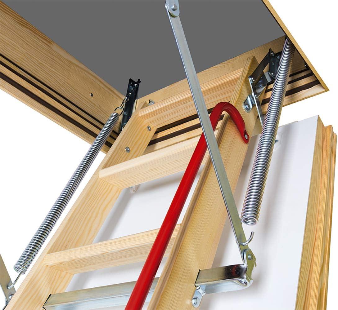 FAKRO LWt 66891 Thermo – Escalera de ático de madera con 12,5 valor-u para (81,3 x 120 cm Rough Aberturas: Amazon.es: Bricolaje y herramientas