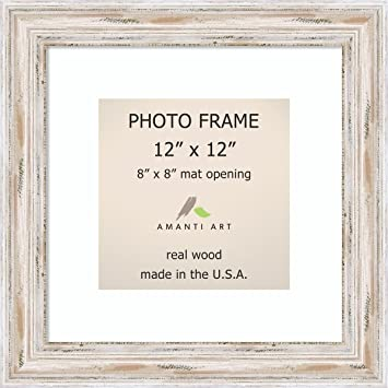 Amazoncom Picture Frame 12x12 Matted To 8x8 Alexandria White