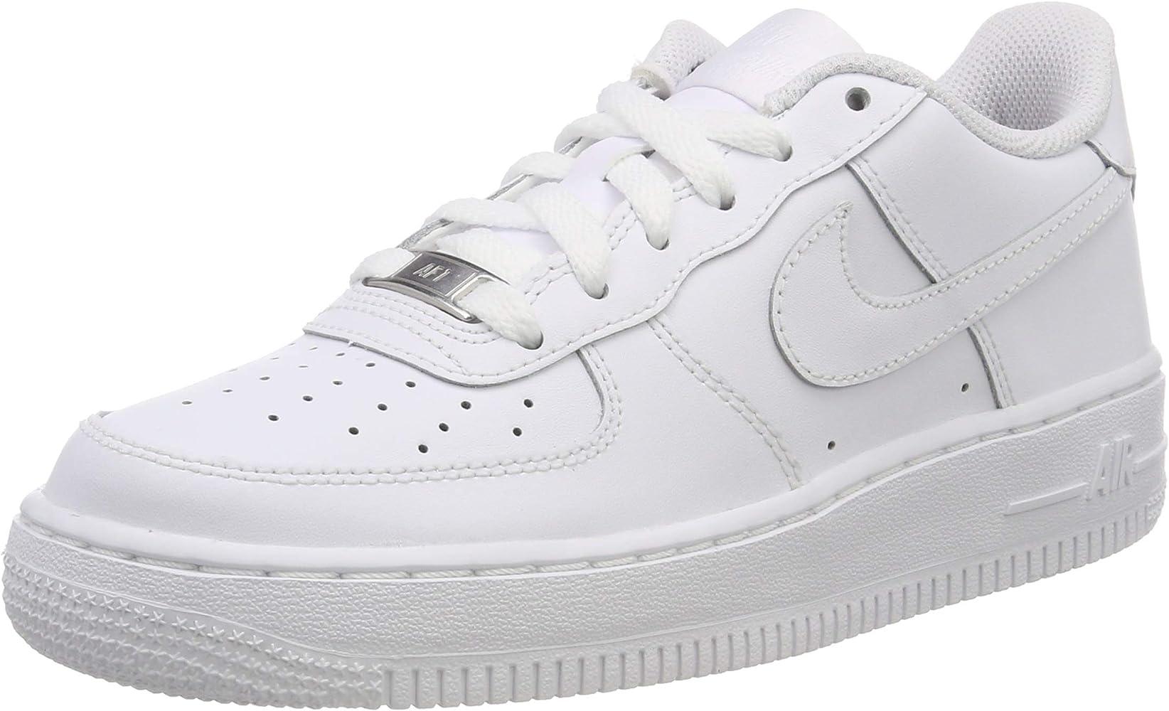 meilleur site web 48cc0 746bf Nike Air Force 1 (Gs), Chaussures de sport garçon, Blanc ...