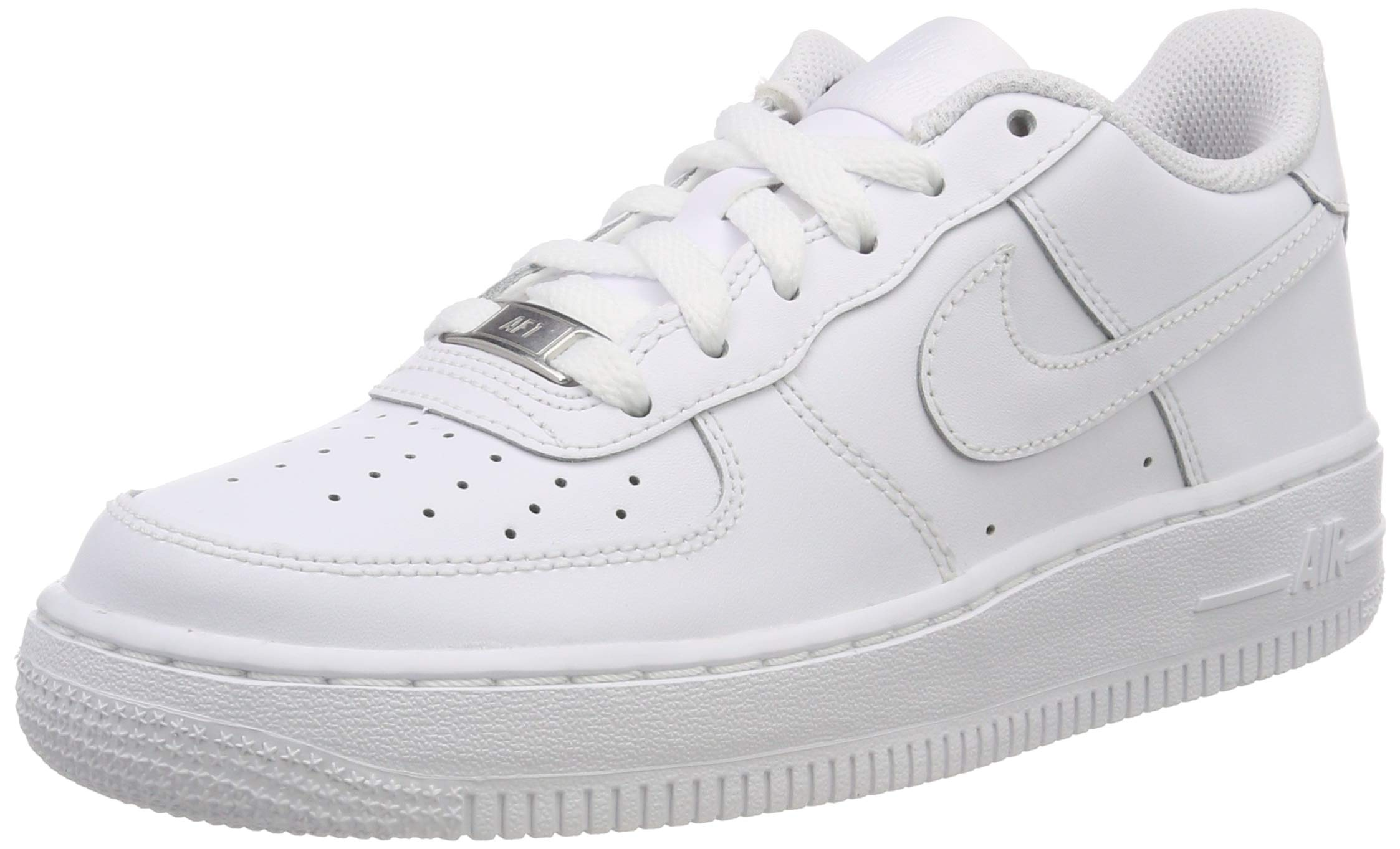 Nike Kids Air Force 1 (GS) White/White/White Basketball Shoe 6 Kids US