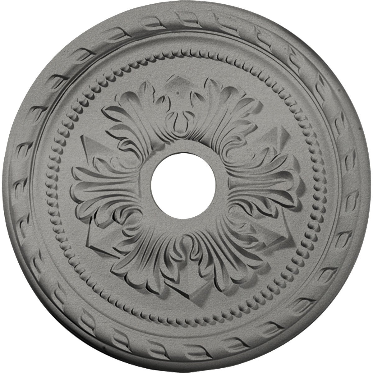 Ekena Millwork CM20PMSLS Palmetto Ceiling Medallion fits Canopies up to 5'', Silver