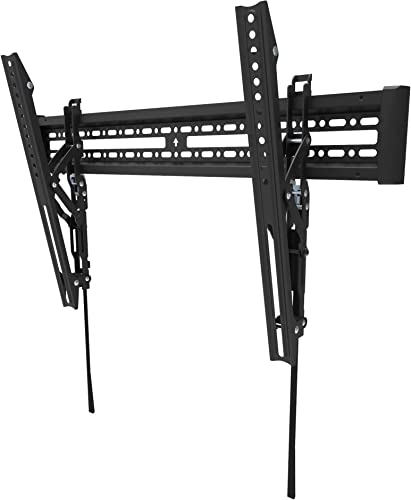 Kanto KT3260 Tilting TV Wall Mount Fits 32 to 60 Monitors Fits VESA Sizes 100×100 to 600×400 Tilt Mechanism Quick Release Tabs Solid Steel Construction Dual Stud Wall Plate