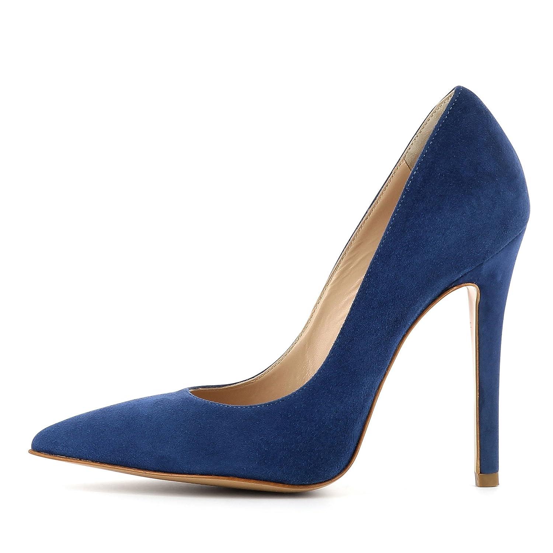 Evita Shoes ILENEA Damen Sling Pumps Rauleder Greige 34 64n4Y1