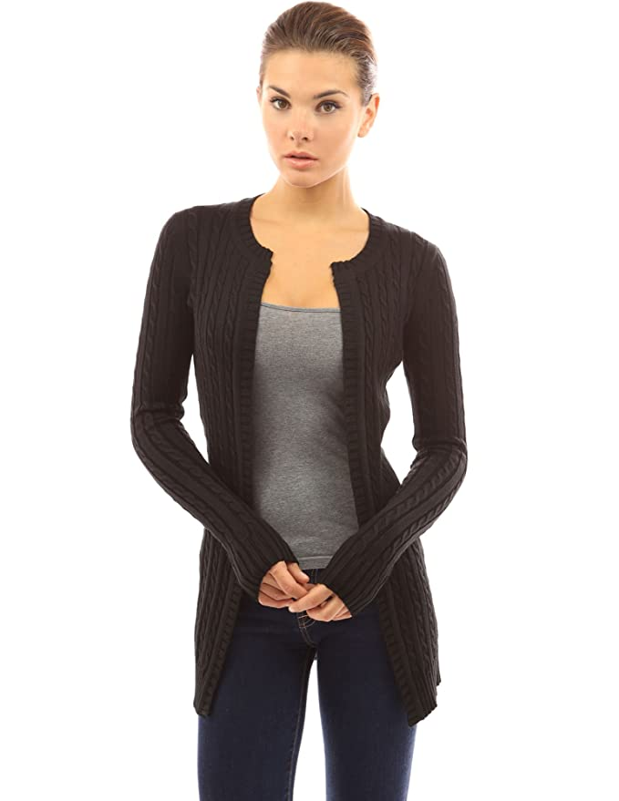 4c9008a2681 PattyBoutik Women s Cable Knit Open Front Cardigan at Amazon Women s  Clothing store