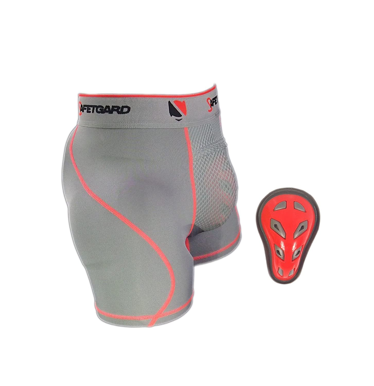 新しい。SafeTGard UltraシリーズYouth Boxer withケージカップでネオン。 B01G2FT5DE Youth Regular|グレー/オレンジ グレー/オレンジ Youth Regular