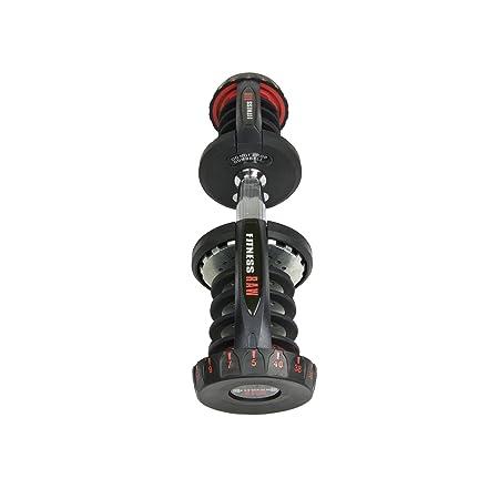 fitnessRAW Ajustable Pesas 40 kg/Adjustable Dumbbell 40 kg/haltère réglable 40 kg: Amazon.es: Deportes y aire libre