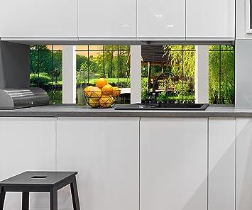 Cocina Pared Trasera Vista de la Ventana Design M0703 210 x 60 cm (W x H) ...