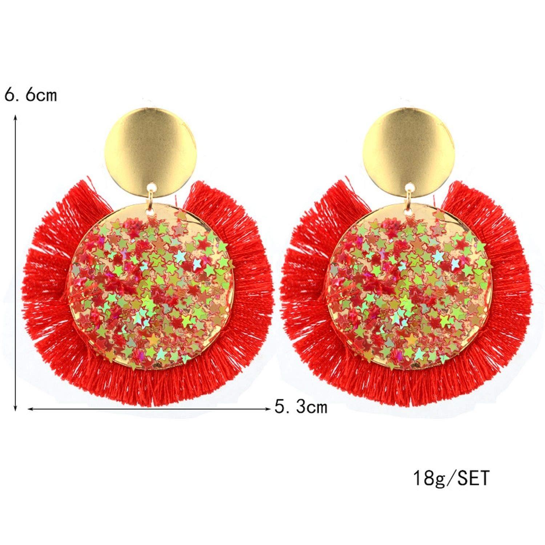 LUFANG Fashion Jewelry Cute Punk crystal flower Drop Earrings party Bohemian Vintage Tassels