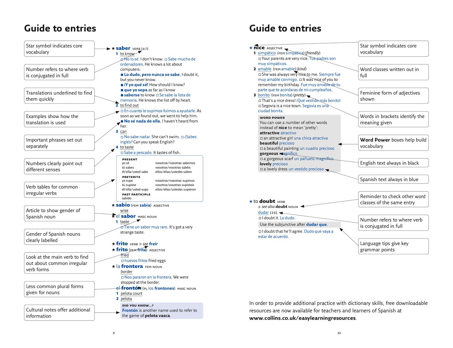 Easy Learning Spanish Dictionary: Amazon co uk: Collins