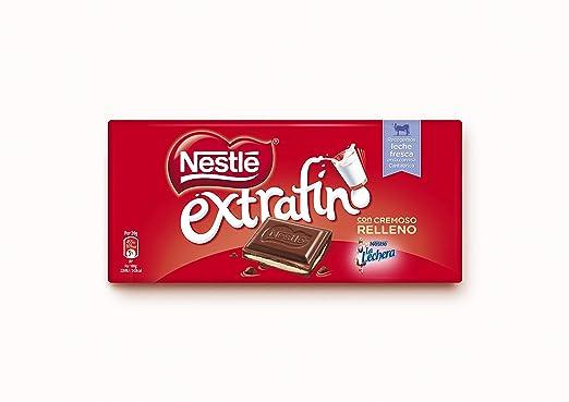 Nestlé Extrafino Chocolate con leche extrafino relleno de crema de leche - 120 gr