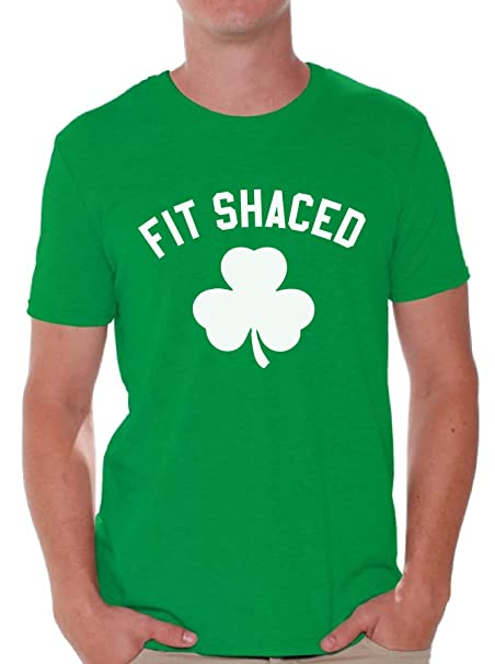 6caed9ba1 Amazon.com: Awkwardstyles Fit Shaced T-Shirt Beer Drunk Party Irish St  Patrick's Day Shirt: Clothing