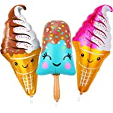 Giant 39 Inch Ice Cream Balloons - Popsicle Ice Cream Party Decorations | Smiling Popsicle Balloons for Ice Cream Birthday Pa