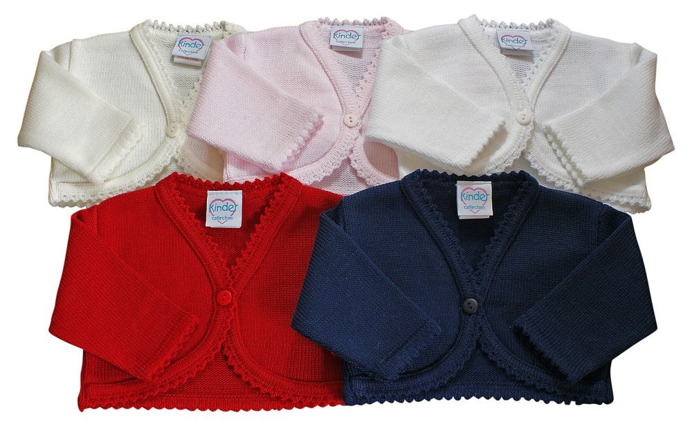 Baby girls bolero cardigan christening wedding bridesmaid 3-6 MONTHS RED Kinder