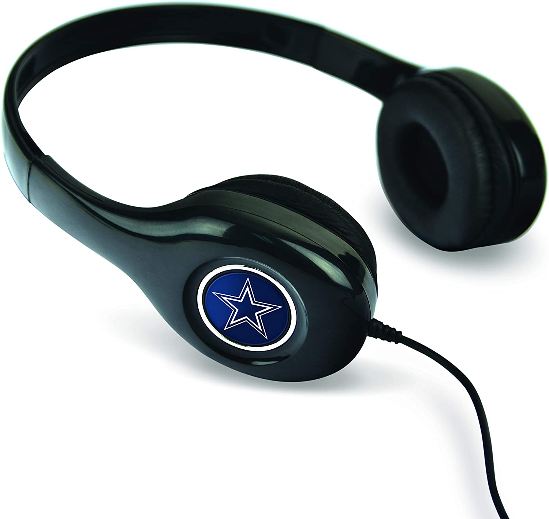 Black MIZCO SPORTS NFL Dallas Cowboys Stereo Headphones