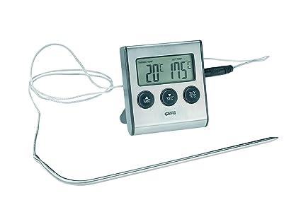 Gefu 21840 Tempere - Termómetro digital para asados, con reloj integrado