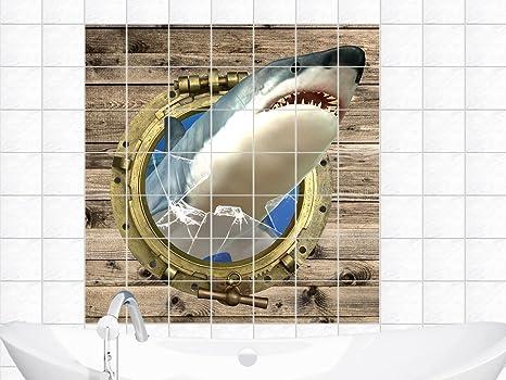 Piastrelle sticker adesivo da parete piastrellata per bagno oblò