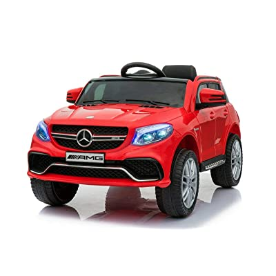 Mercedes Benz GLE Licensed 12V Electric Kids Ride Car RC Remote RED White Black (RED): Home Improvement