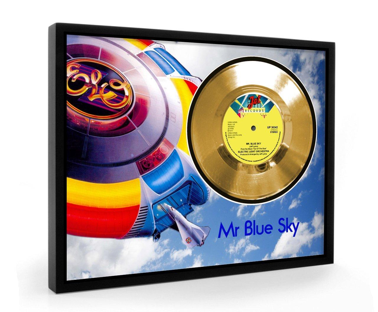 Elo Mr Blue Sky Framed Gold Disc Display Vinyl (C1) CGD