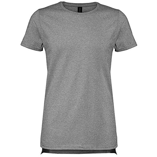0d2d6a648e57 Anvil Mens Basic Long and Lean Tee (S) (Heather Graphite)