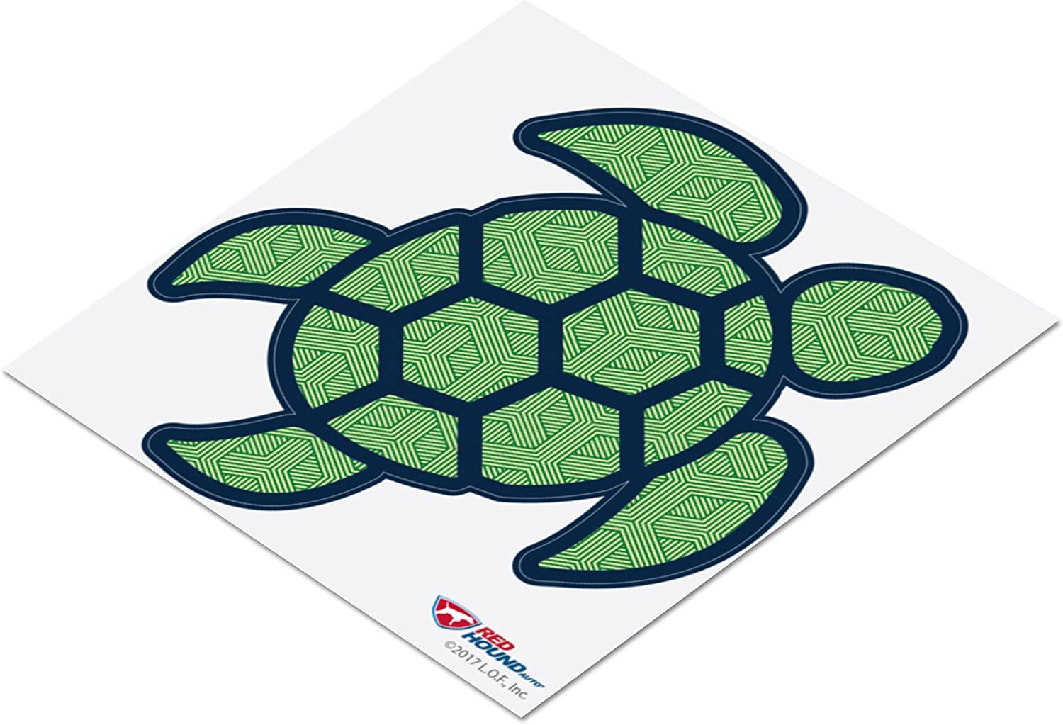 Red Hound Auto Sea Turtle Leaf Green Sticker Decal Wall Tumbler Cup Window Car Truck Laptop 2.5 Inches