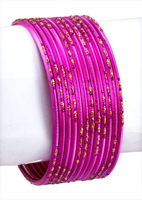 Chudi Pink Color Indian Traditional Bollywood Fashion Party Wear Metal Bangles