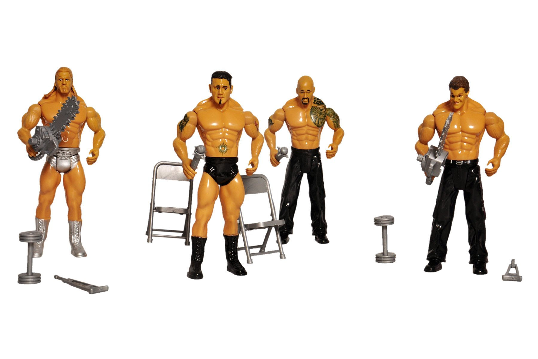 Toyshine Pack of 4 WWE Action Figure Combo with Playing Accessories product image