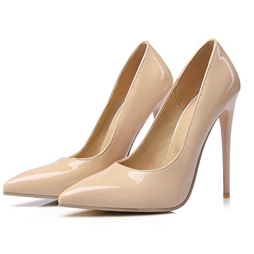 5cc398d4fbe azmodo Women's Pointed Toe Shoes Business High Heels Sexy Stiletto Slip-on  Pumps