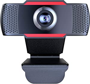 Webcam 1080P Full HD Auto Focus Streaming Web Camera with Microphone USB Computer Camera for PC Laptop Desktop Mac Video Calling Recording Streaming Video Conference Online Teaching Business Gaming
