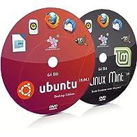 Ubuntu 18.04.1 GNOME and Linux Mint 19 Cinnamon 64 Bit Live Bootable DVD