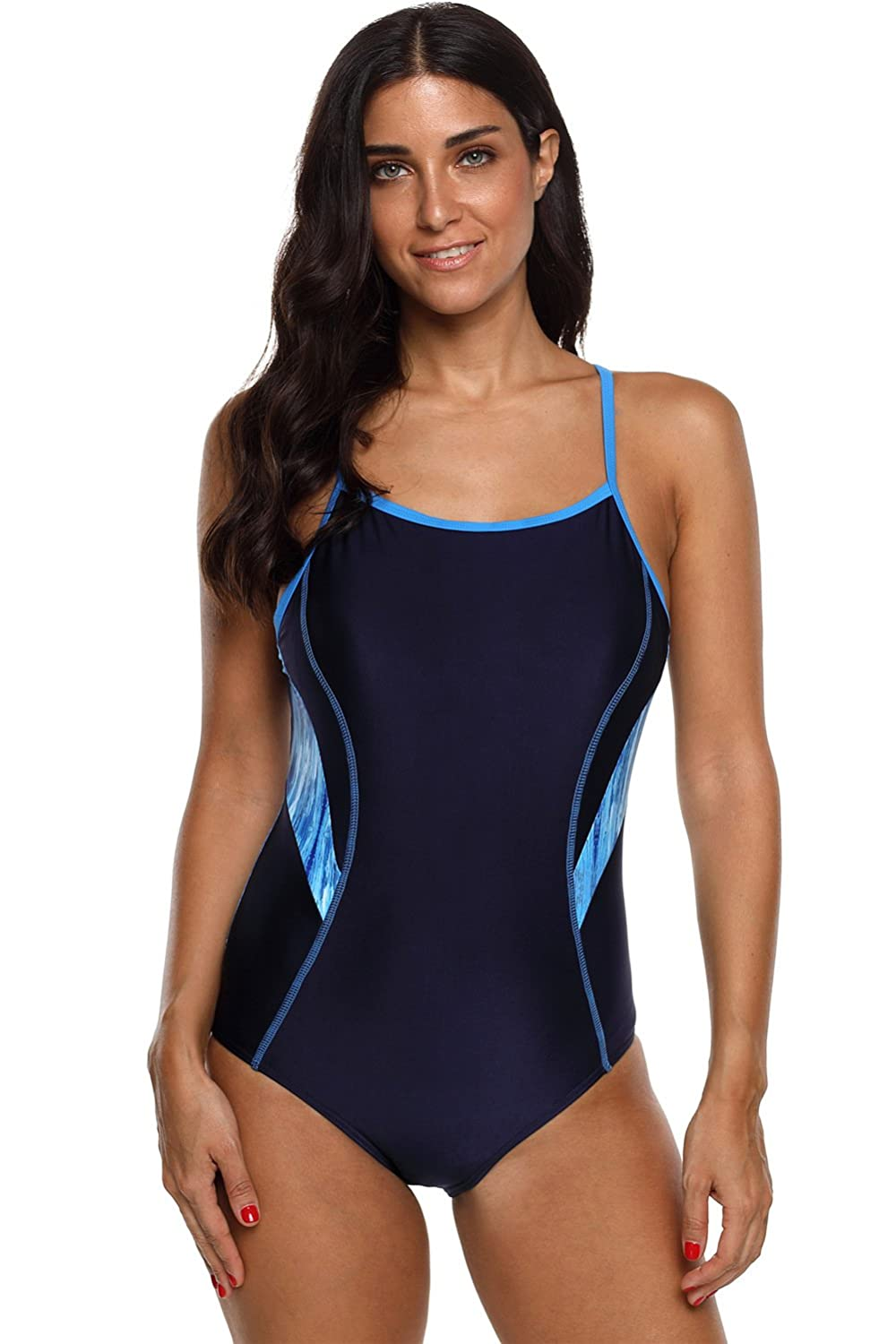 maysoul Women Sport One Piece Swimsuits Racerback Competitive Bathing Suits