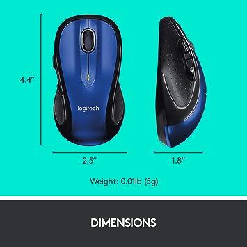 Logitech M510 7 Button Wireless Laser Scroll Mouse W Tilt Wheel Plus Zoom Nano Transceiver Blue Baumarkt