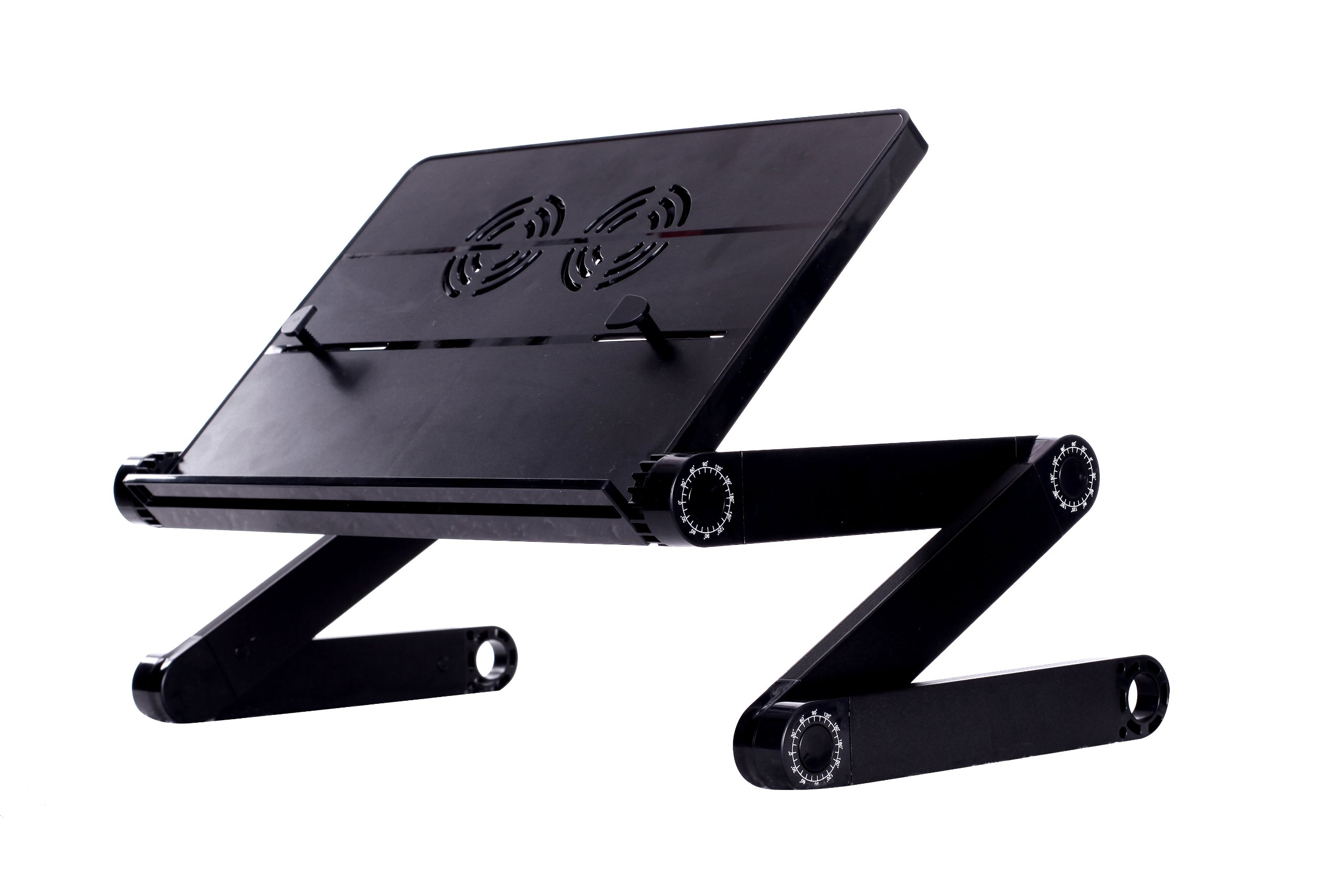 Portable Adjustable Height and Angle Ergonomic Reading Stand, Book holder, Tablet Stand, up to 12'' Laptop Stand, Document Holder, Black
