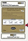 Pioneer Postbound 5 Inch by 7 Inch White Top Loading Refill Pack