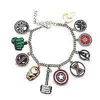 Marvel Comics The Avengers (11 Themed Charms) Metal/Enamel Charm Bracelet