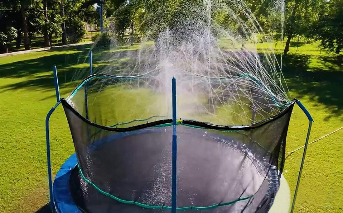 Bobor Trampoline Water Sprinkler for Kids,Outdoor Trampoline Waterpark Fun Summer Water Game Toys Accessories, Great Gift for Boys Girls and Adults, Made to Attach On Safety Net Enclosure